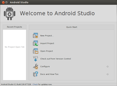 Android Studio installed successful