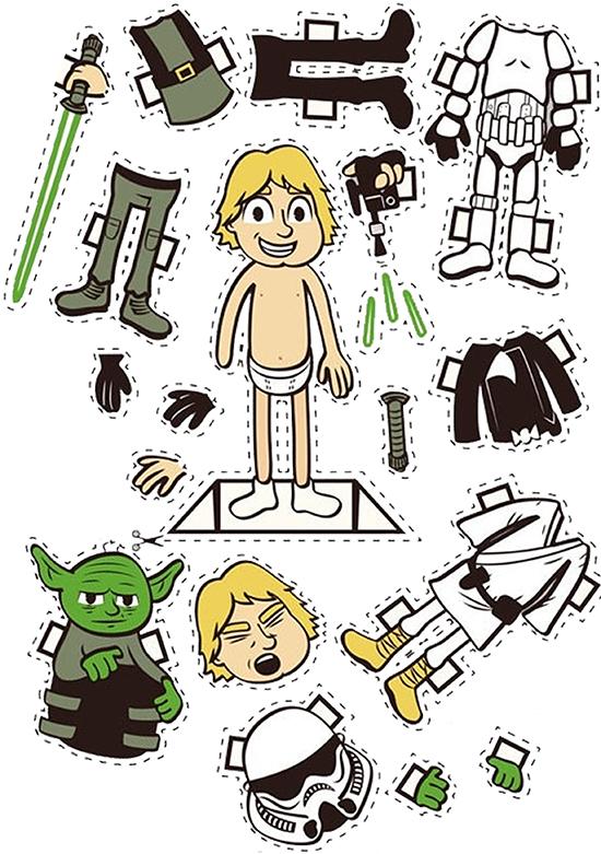 íma de geladeira, star wars, magnet, faca voce mesmo, diy, ima personalizado, boneca de papel, paper doll