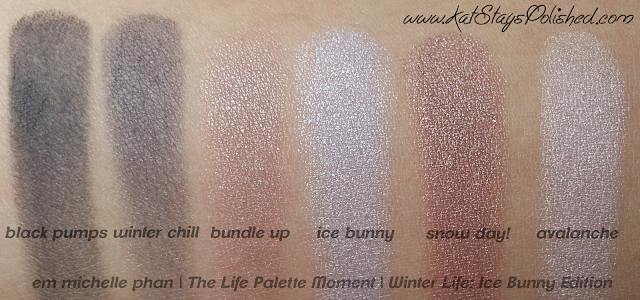 em michelle phan | The Life Palette Moments | Winter Life: Ice Bunny Edition - eye swatches