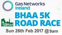 Flat fast 5k in Cork City coming up Sun 26th Feb 2017