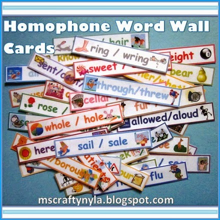 Homophones-Illustrated-Word-Wall