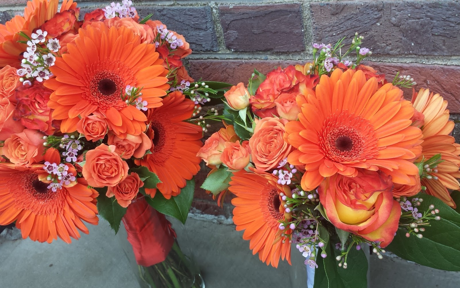 Madd Designs MaddFlowers Orange Bouquet Wedding in St