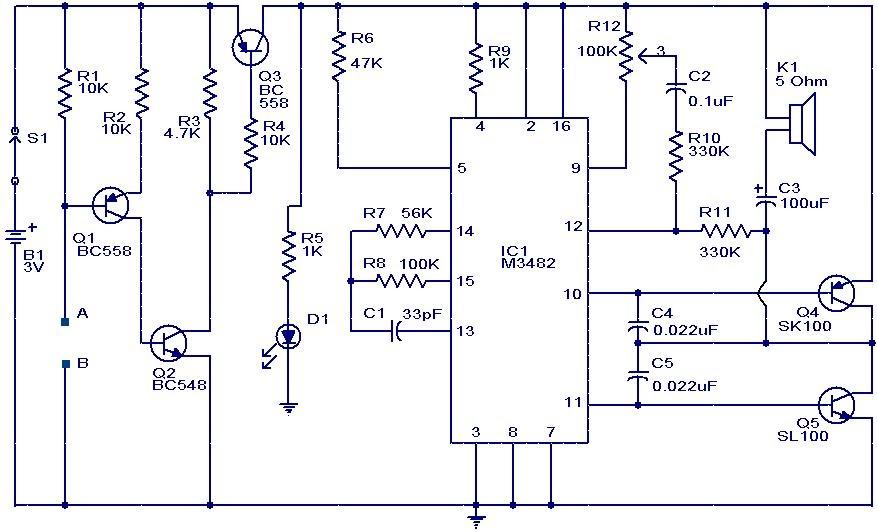 M 3482 Alarm Water Sensor Circuit