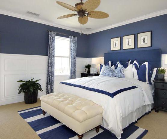 Dormitorios en azul y gris for Cuarto color gris