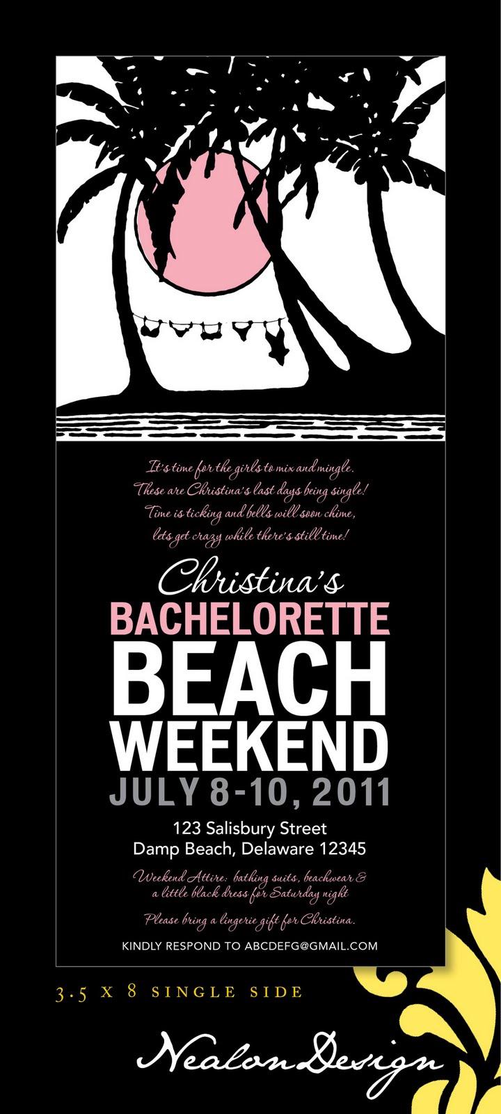 Nealon Design: BACHELORETTE Beach Weekend (Silhouette)
