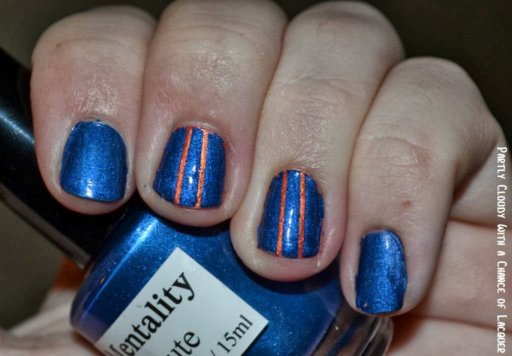 Florida Gator Nails - Week 2 | Partly Cloudy With a Chance of Lacquer