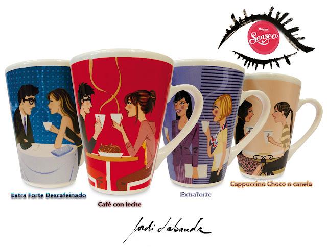 Marcilla Senseo tazas diseñadas por Jordi Labanda