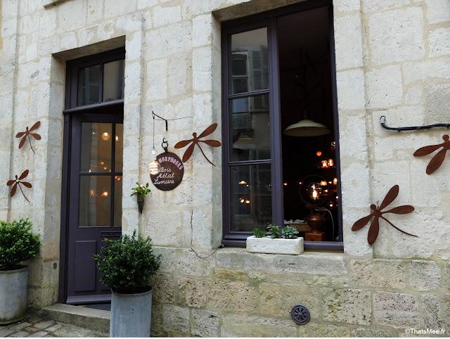 boutique Metamorphose Bois Metal Lumière Bellême création lumineuse lampes poétiques facade