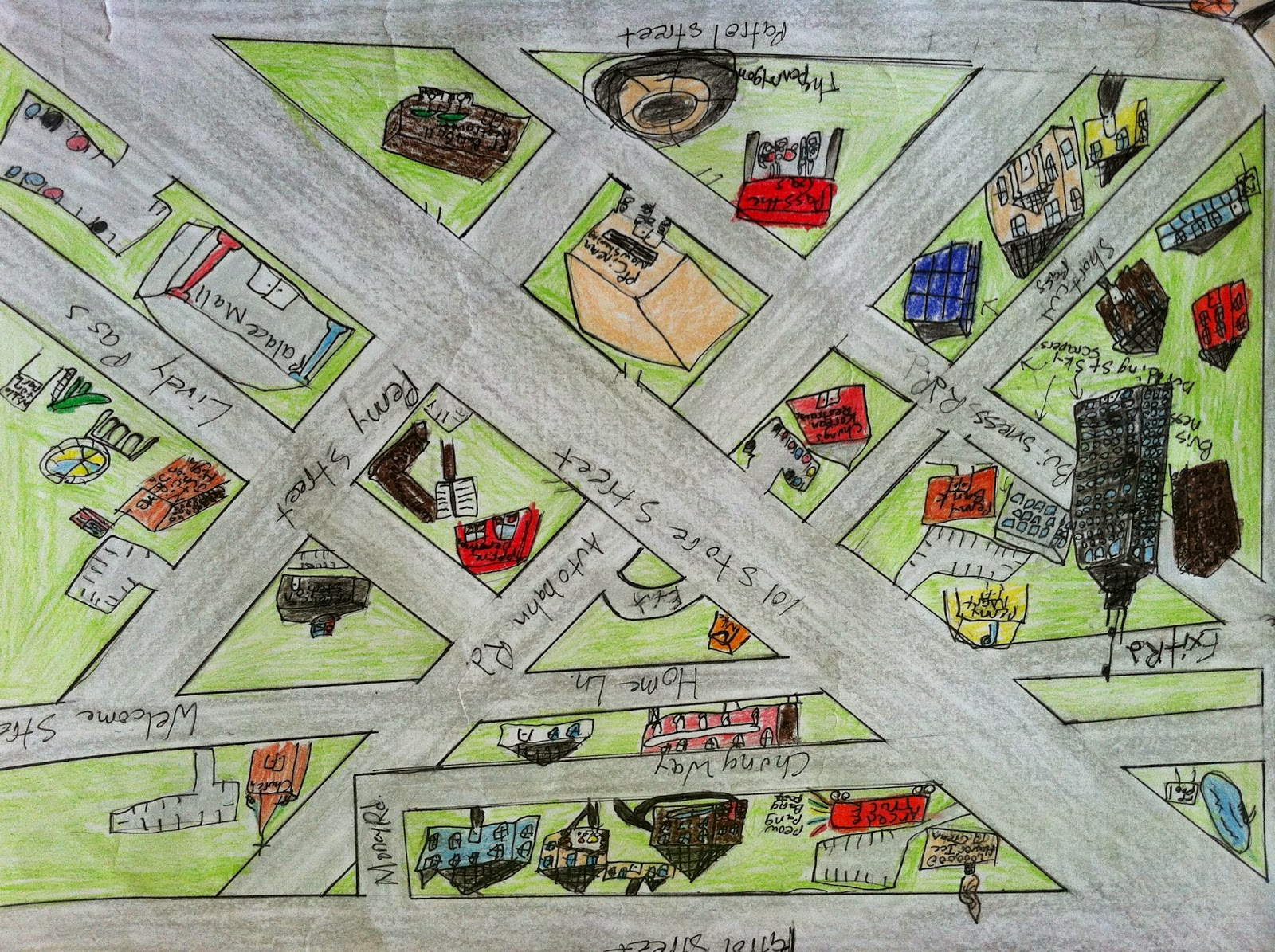 Geometry Line Design Project : Hello learning lines and angles unit project angle city