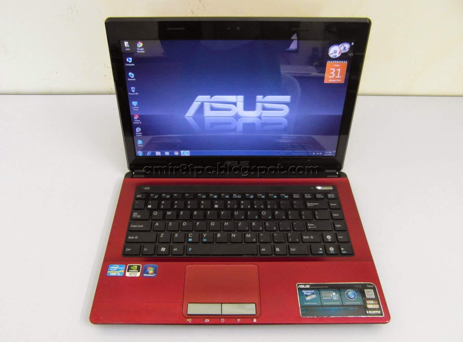 Used Laptop Asus A43SD Intel Core I5 2GB Graphics Nvidia Red 98 Like NEW RM 1385