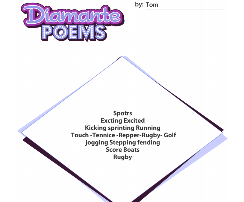 How to write a diamente poem