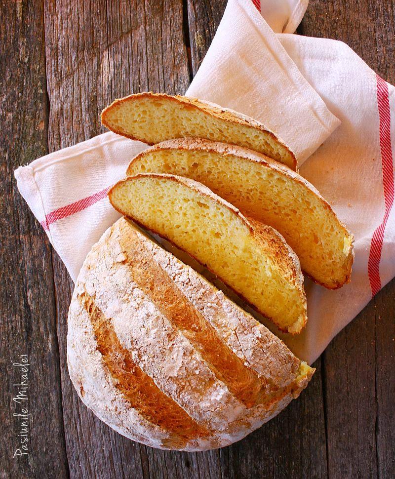 Pâine ţărănească cu cartofi, fără gluten, fără frământare