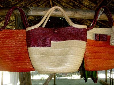 Artesanato de palha de piaçava-bolsa de palha-carteira de palha
