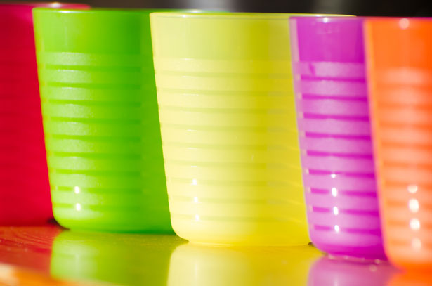 public domain image of plastic reusable cups