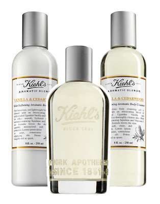 Kiehl's, Kiehl's Aromatic Blends Collection, Kiehl's Vanilla & Cedarwood Aromatic Blends Collection, Kiehl's skincare, Kiehl's body care, Kiehl's lotion, Kiehl's moisturizer, Kiehl's hand lotion, Kiehl's fragrance, Kiehl's perfume, Kiehl's cleanser, Kiehl's body wash, Kiehl's shower gel