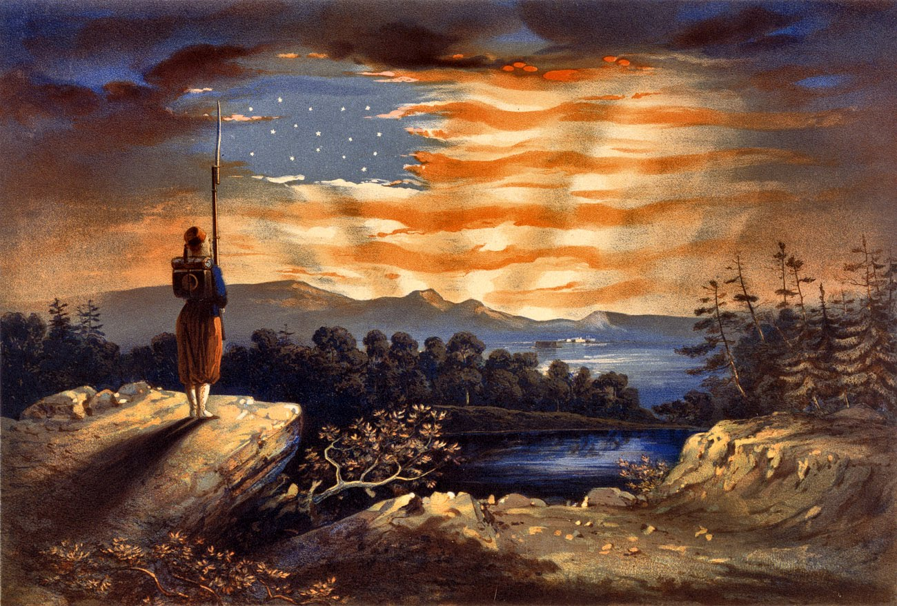 Antique Prints Blog: The start of the Civil War and Flag Mania Famous American Flag Art