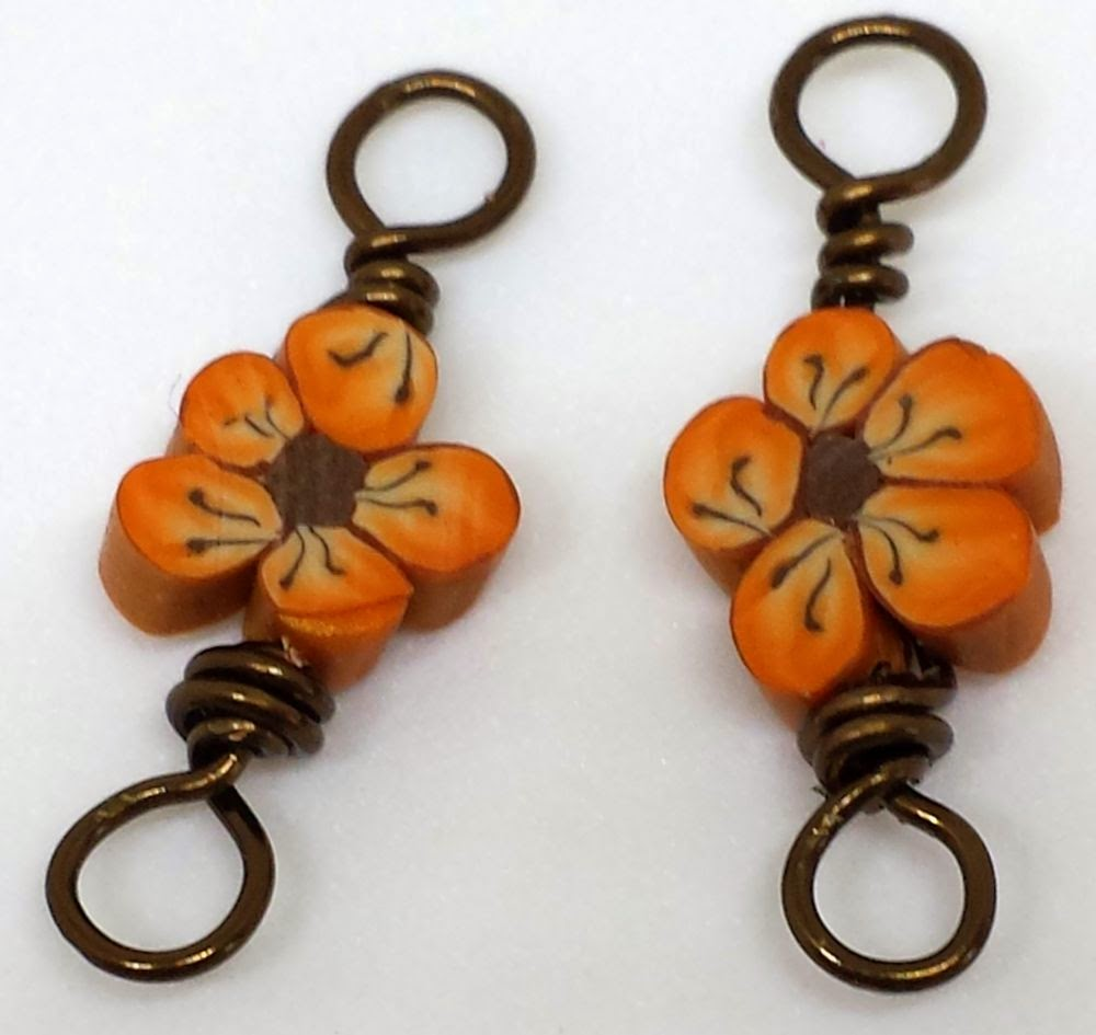 Beed Peeps Swap 'n Hop ~ flowers by Elaine Robataille, wire wrapping, copper, ooak necklace :: All Pretty Things