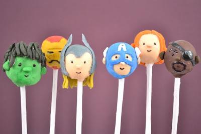 Delicious Avengers Cake Pops