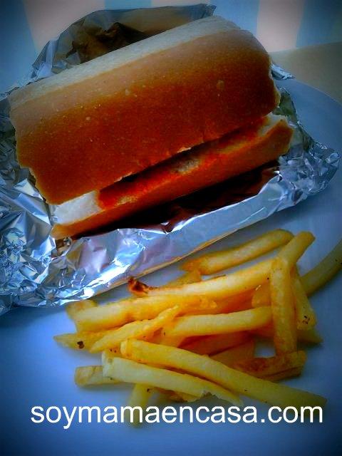 sandwich de albóndigas