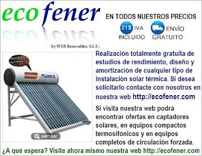 Encuentra los mejores equipos de energía solar térmica en ecofener.com