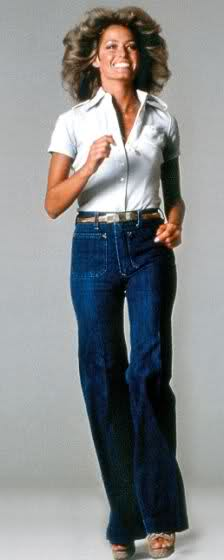 You can't go wrong emulating the icon of 70's style, Farrah Fawcett ...