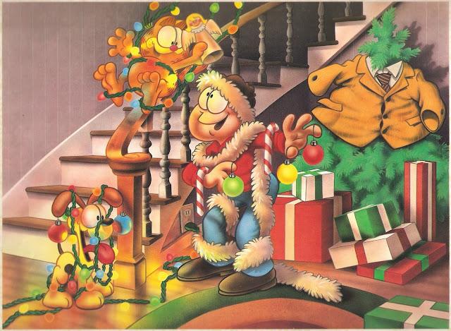 Garfield christmas comics why should christmas trees