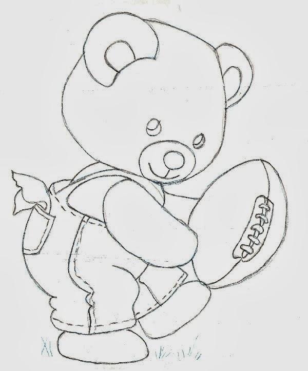 Ursinho Carinhoso - Comendo Mel - Desenhos para colorir