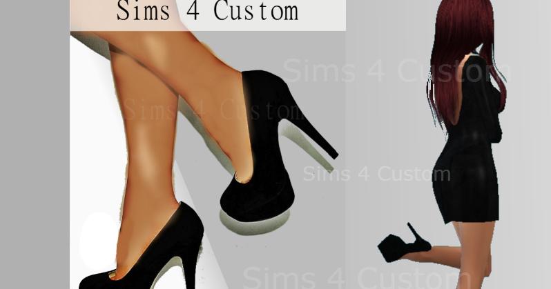 Sims 4 Custom: High Heels || Female Shoes || Fashion || Black Shoe ...