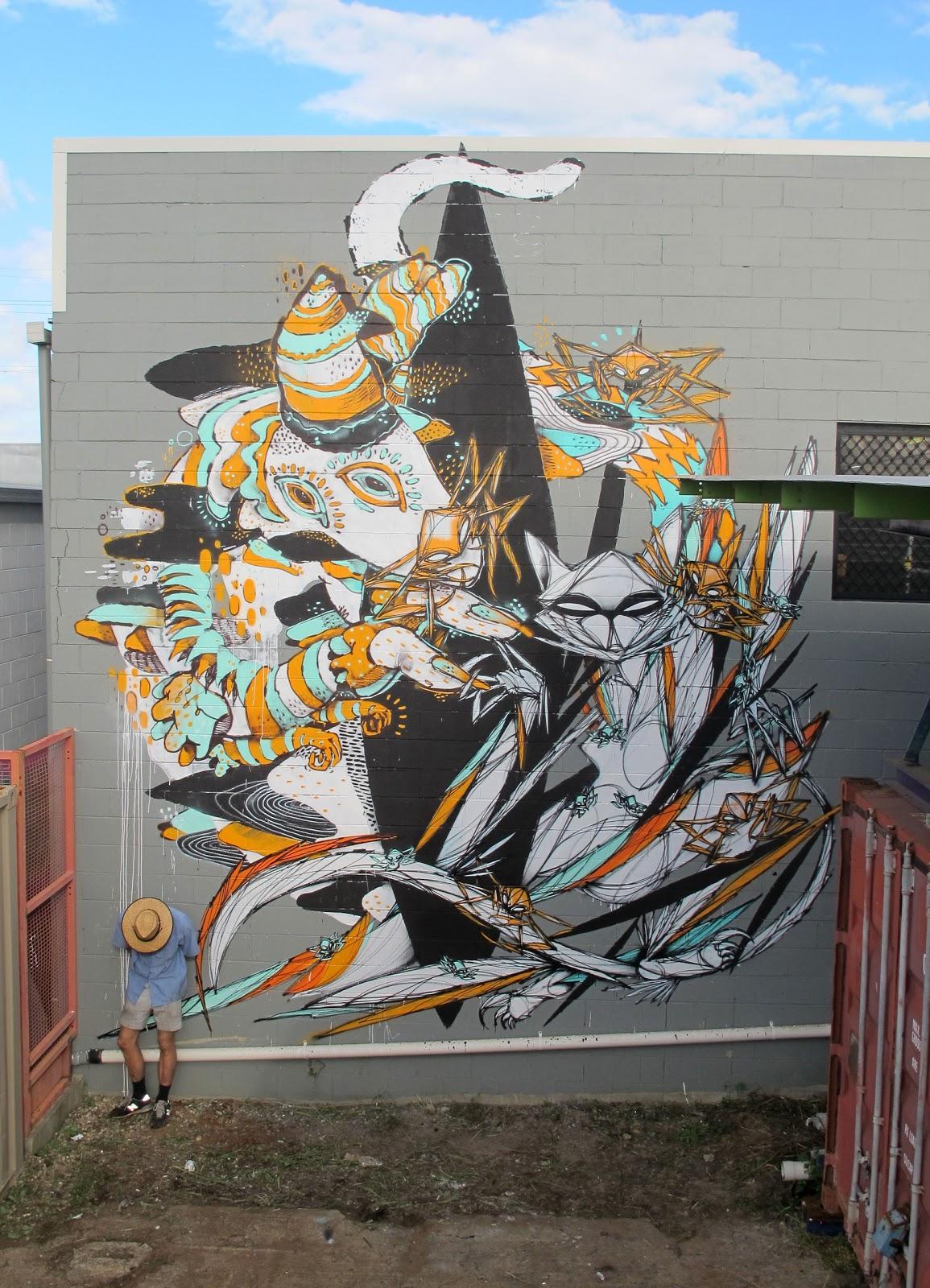 Shida x knarf new mural in miami australia for Australian mural