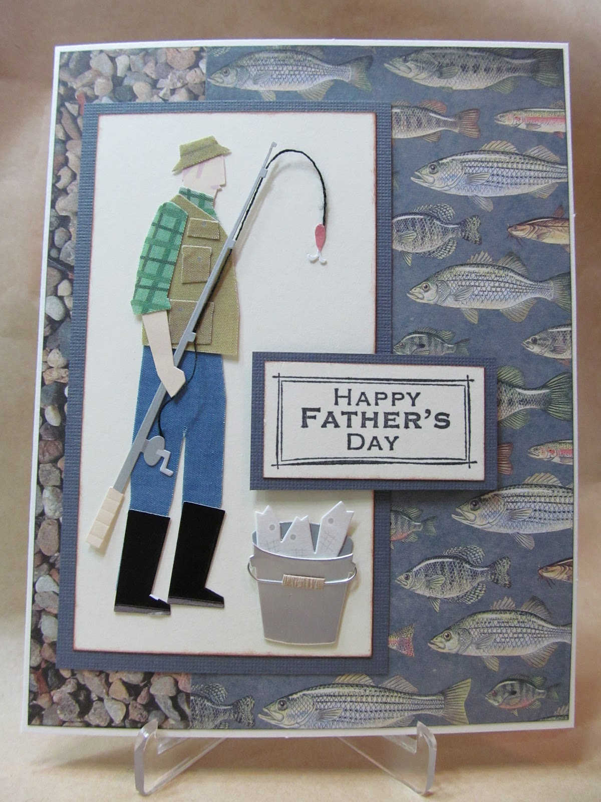 Savvy handmade cards fishing father 39 s day card for Father s day fishing card