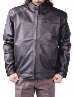jaket kulit imitasi pria