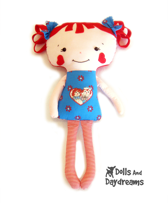 Dolly Donations Raggedy Ann Andy Dolls Sewing Pattern Finished