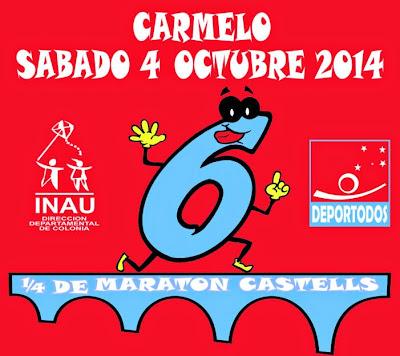1/4 Maratón Castells (10,5k y 5k; Carmelo, Colonia; 04/oct/2014)