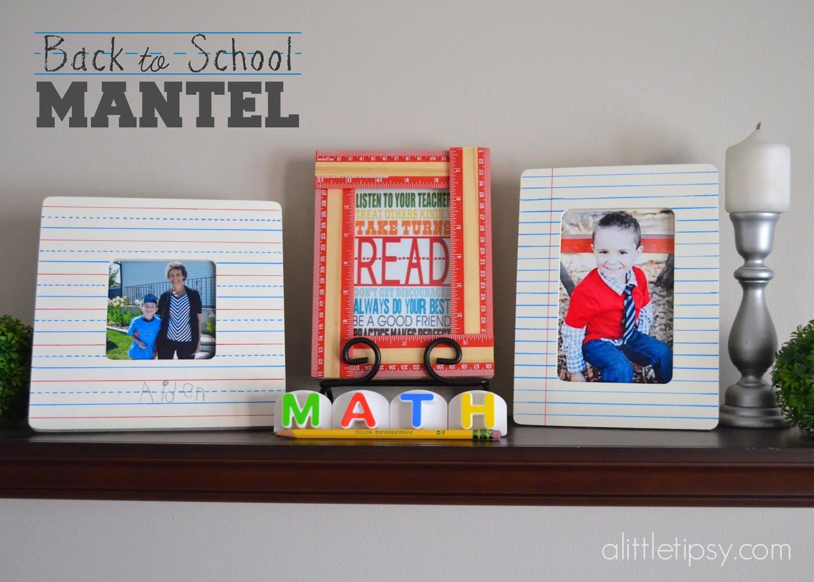 Easy Painted Notebook Paper Frames - A Little Tipsy