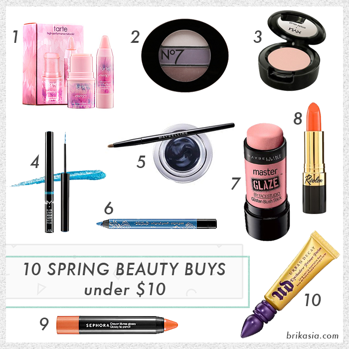 10 spring beauty buys under 10 dollars, spring 2014 beauty trends, spring 2014 beauty products, spring beauty on a budget