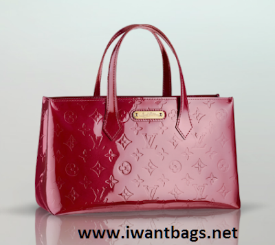 Pre-loved : Louis Vuitton Vernis Wilshire PM – Red - 400 x 357  133kb  png