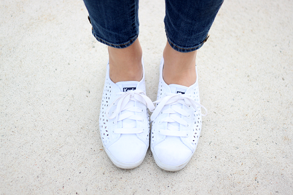 Keds Rally Perf, White Perforated Keds