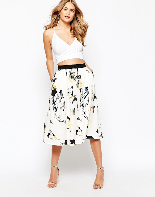river island printed skirt, river island midi skirt,