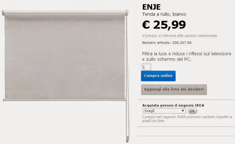 Kia design personalizzare la tenda a rullo di ikea for Ikea tende a rullo