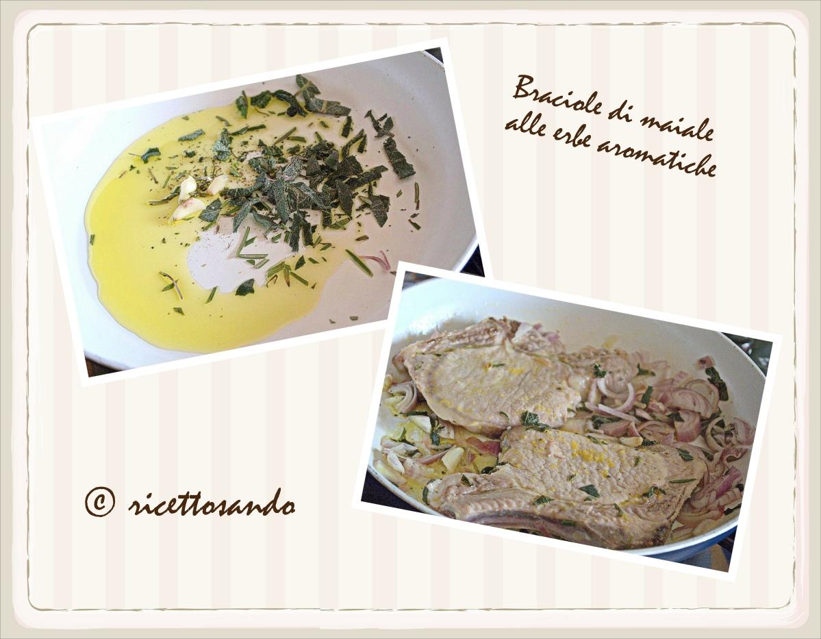 Braciole di maiale alle erbe aromatiche prepariamo la carne marinata