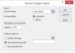 option one way anova excel