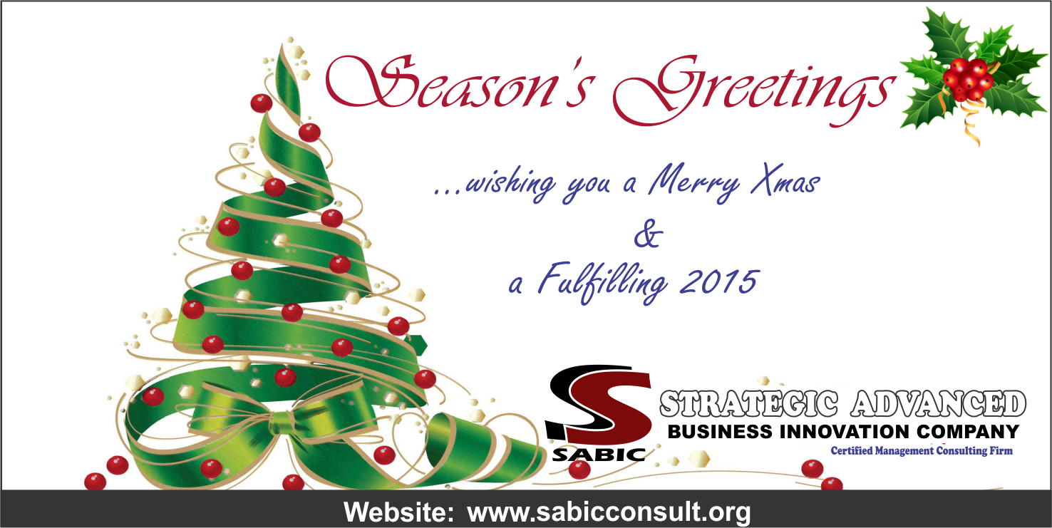 Strategic Advanced Business Innovation Company Seasons Greetings