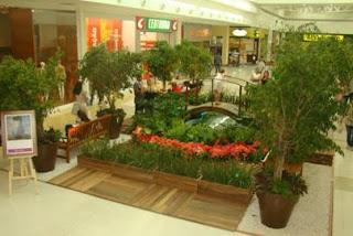 Shopping Grande Rio cria jardim inspirado nas obras de Monet