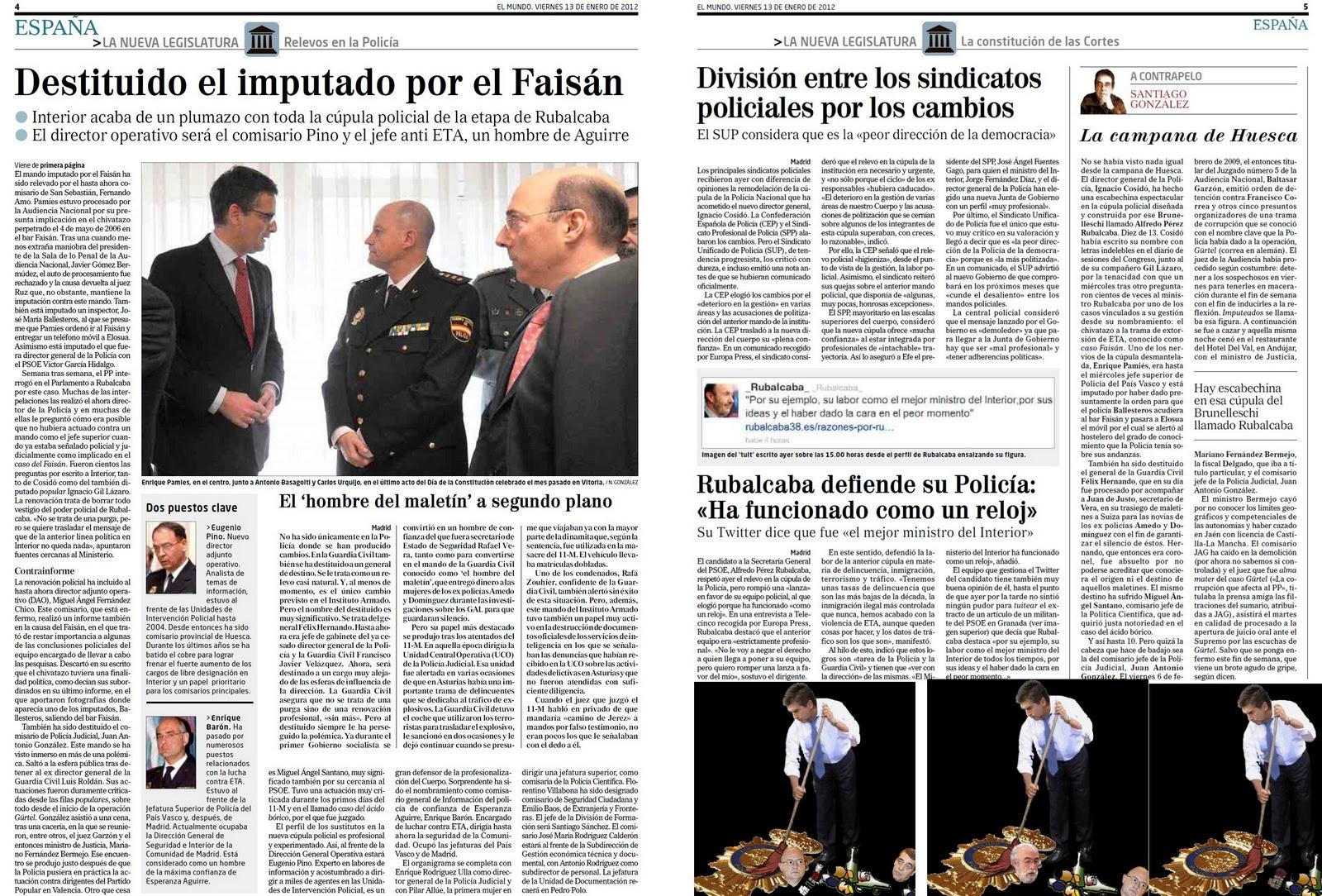 Ignacio Cosidó fulmina la camarilla policial socialista a la que el PSOE encargaba cometer delitos en lugar de perseguirlos