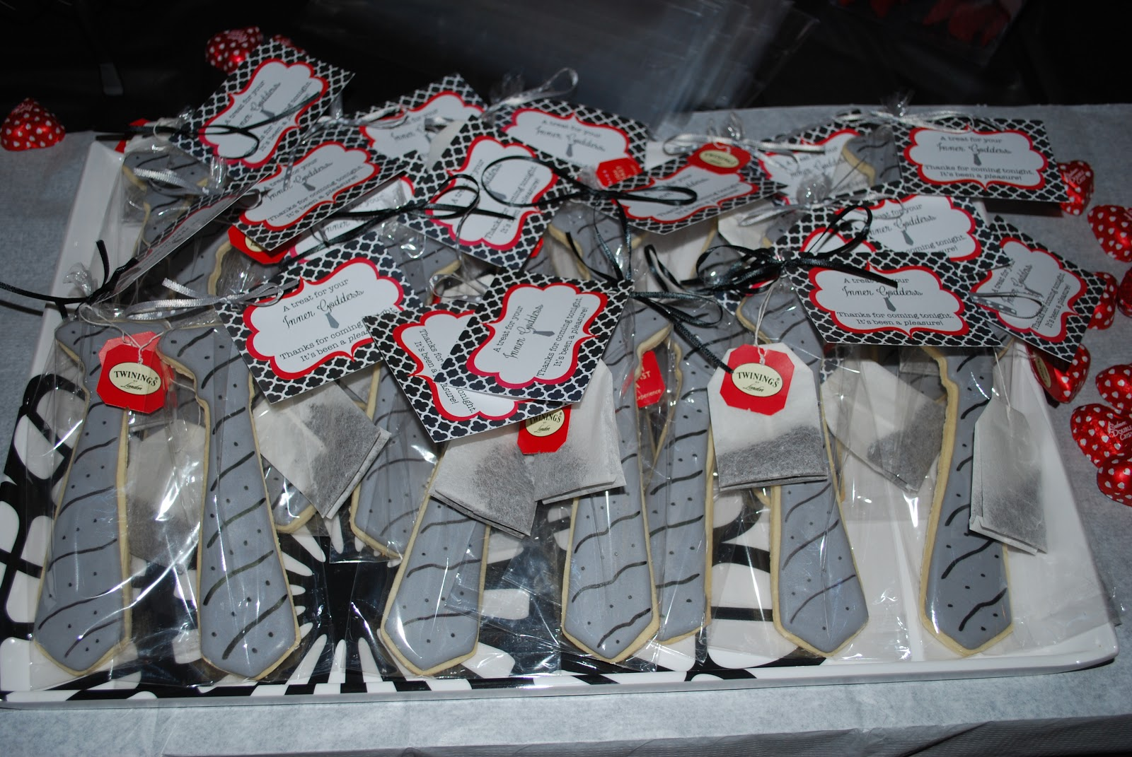 whimsy wise events fifty shades of grey party and party gray tie cookies and english tea