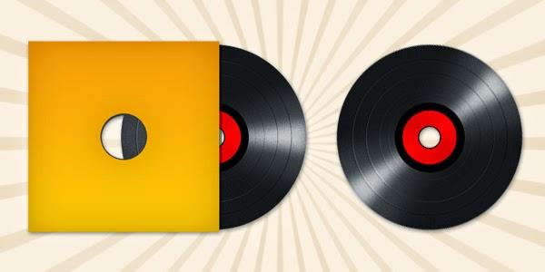 Vinyl Record Disc Icon PSD