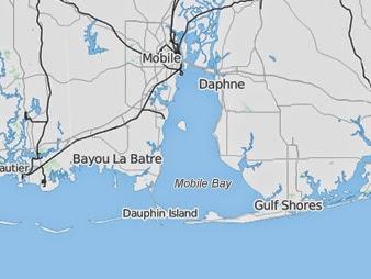 Dauphin Island, Ala. A historic island may soon be history. (Credit: eenews.net) Click to enlarge.