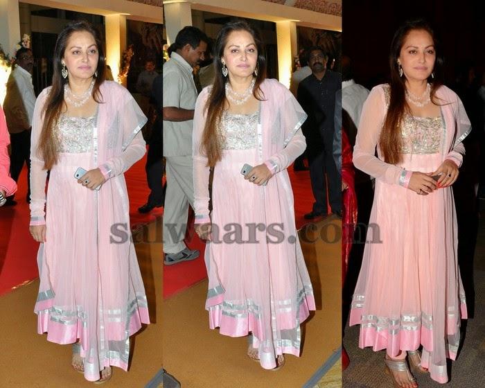 Jayapradha in Light Pink Salwar