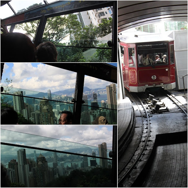Riding on Peak Tram to the top hill of Hong Kong in order to view the skyline of Hong Kong