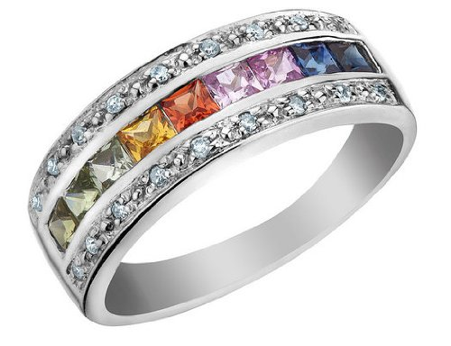 Design Wedding Rings Engagement Rings Gallery Unique Design Multi Colored Sapphire Ring With
